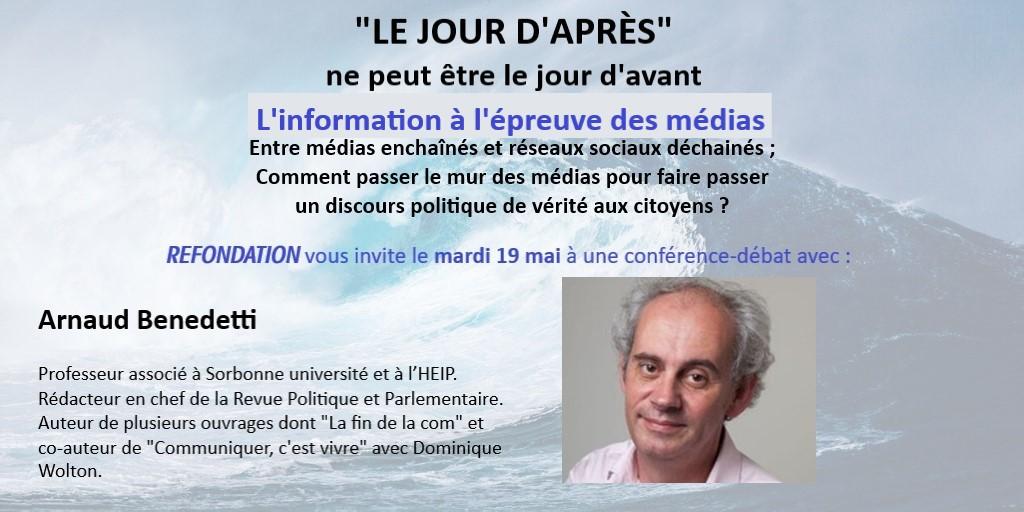Visioconférence «LE JOUR D'APRÈS», mardi 19 mai 2020 : l'information à l'épreuve des médias