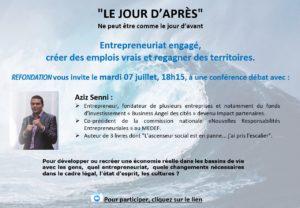 Visioconférence « LE JOUR D'APRÈS », mardi 07 juillet 2020 18h15.