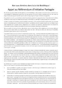 Read more about the article De la loi de bioéthique … aux chimères.